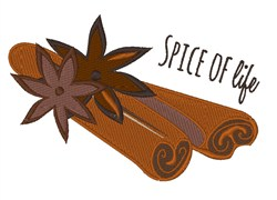 Spice of Life embroidery design