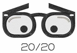 20/20 Vision embroidery design