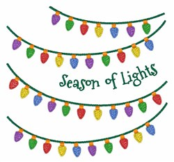 Season Of Lights embroidery design