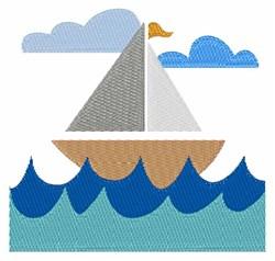 Sail Baot embroidery design