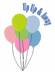 Up Up & Away embroidery design