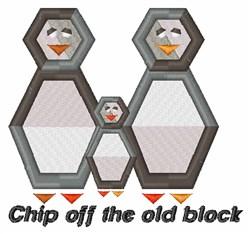 Block Penguin embroidery design