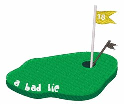 A Bad Lie embroidery design