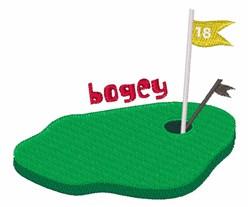 Bogey 18 embroidery design