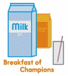 Breakfast of Champions embroidery design