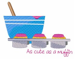 As Cute As A Muffin embroidery design