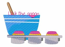 Lick the Spoon embroidery design