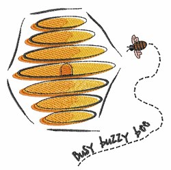 Busy Buzzy Bee embroidery design