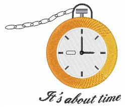 Its About Time embroidery design