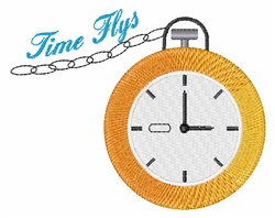 Time Flys embroidery design