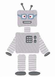 Sci-Fi Robot embroidery design