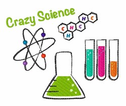 Crazy Science embroidery design