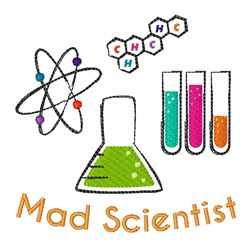 Mad Scientist embroidery design