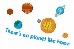 Home Planet embroidery design