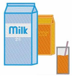 Milk and OJ embroidery design