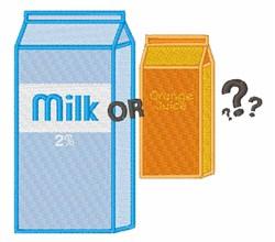 Milk or OJ embroidery design