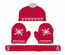 Winter Clothes embroidery design