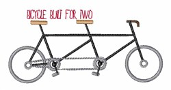 Bicycle for Two embroidery design