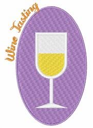 Wine Tasting embroidery design