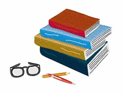 School Books embroidery design
