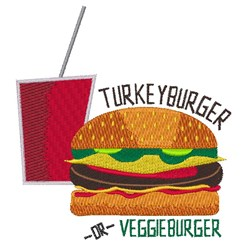 Turkey or Veggie embroidery design