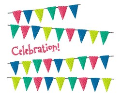 Celebration Flags embroidery design