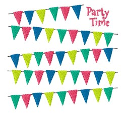 Party Time Flags embroidery design
