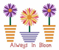 Always in Bloom embroidery design