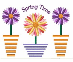 Spring Time embroidery design