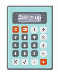 Add It Up embroidery design