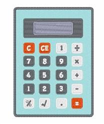 Calculator embroidery design