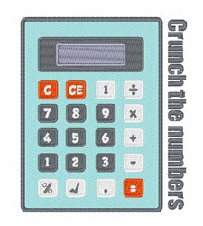 Crunch The Numbers embroidery design
