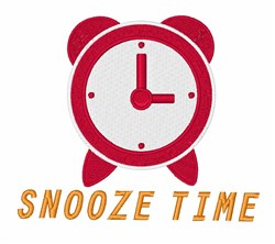 Snooze Time embroidery design