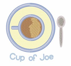 Cup Of Joe embroidery design