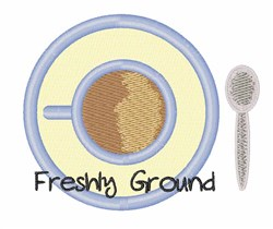 Freshly Ground embroidery design