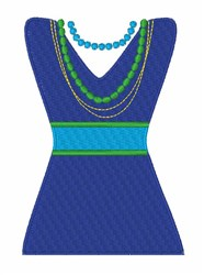 Fashion Dress embroidery design