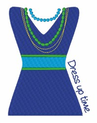 Dress Up Time embroidery design