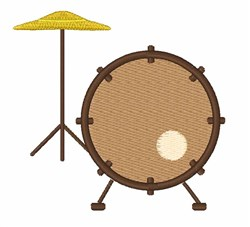 Drum Set embroidery design