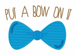 Bow On It embroidery design