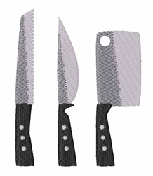 Kitchen Knives embroidery design