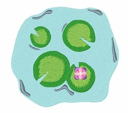 Lily Pad Pond embroidery design