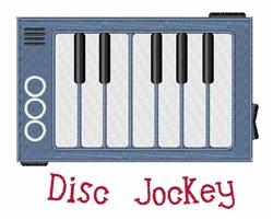 Disc Jockey embroidery design
