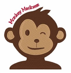 Monkey Madness embroidery design