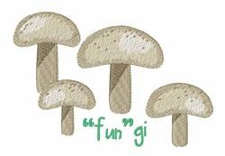 Fungi embroidery design