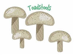 Toadstools embroidery design