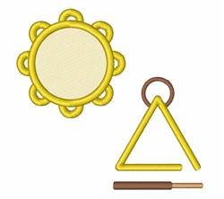 Tamborine & Triangle embroidery design