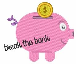 Break The Bank embroidery design