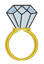 Diamond Ring embroidery design