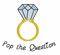 Pop The Question embroidery design