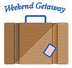 Weekend Getaway embroidery design